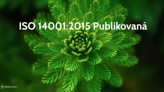 ISO 14001:2015 publikovaná