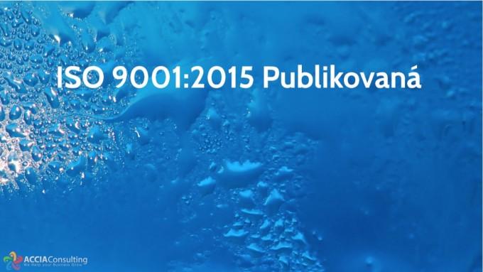 ISO 9001:2015 Publikovaná
