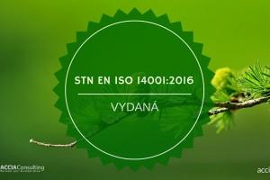 STN EN ISO 14001 Vydaná