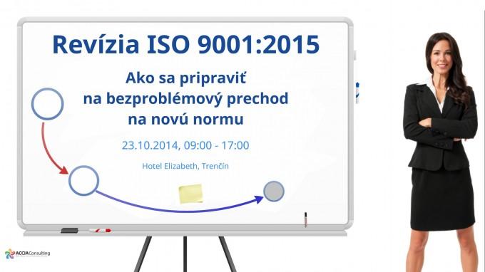 Pozvánka na seminár Revízia ISO 9001:2015