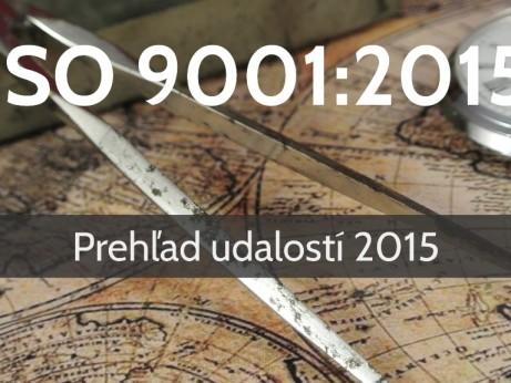 ISO 9001:20015 Prehľad udalostí v roku 2015