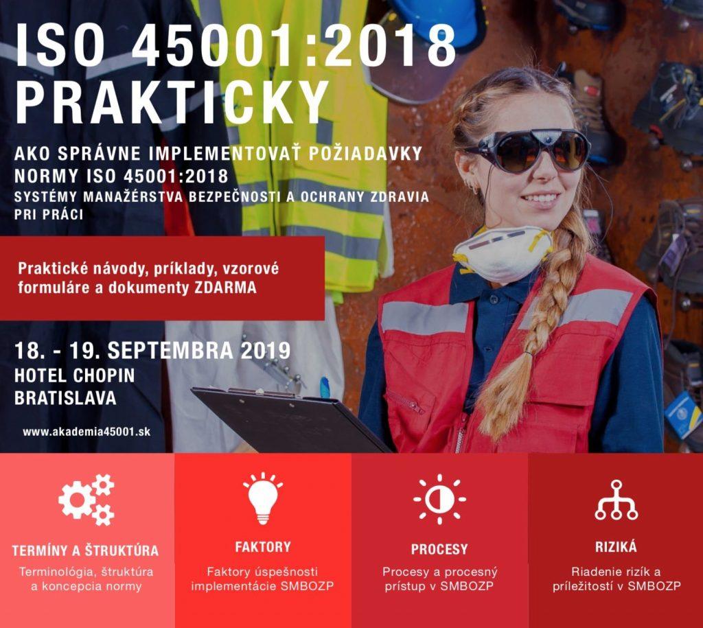 Kurz Norma ISO 45001:2018 prakticky 18.-19.09.2019