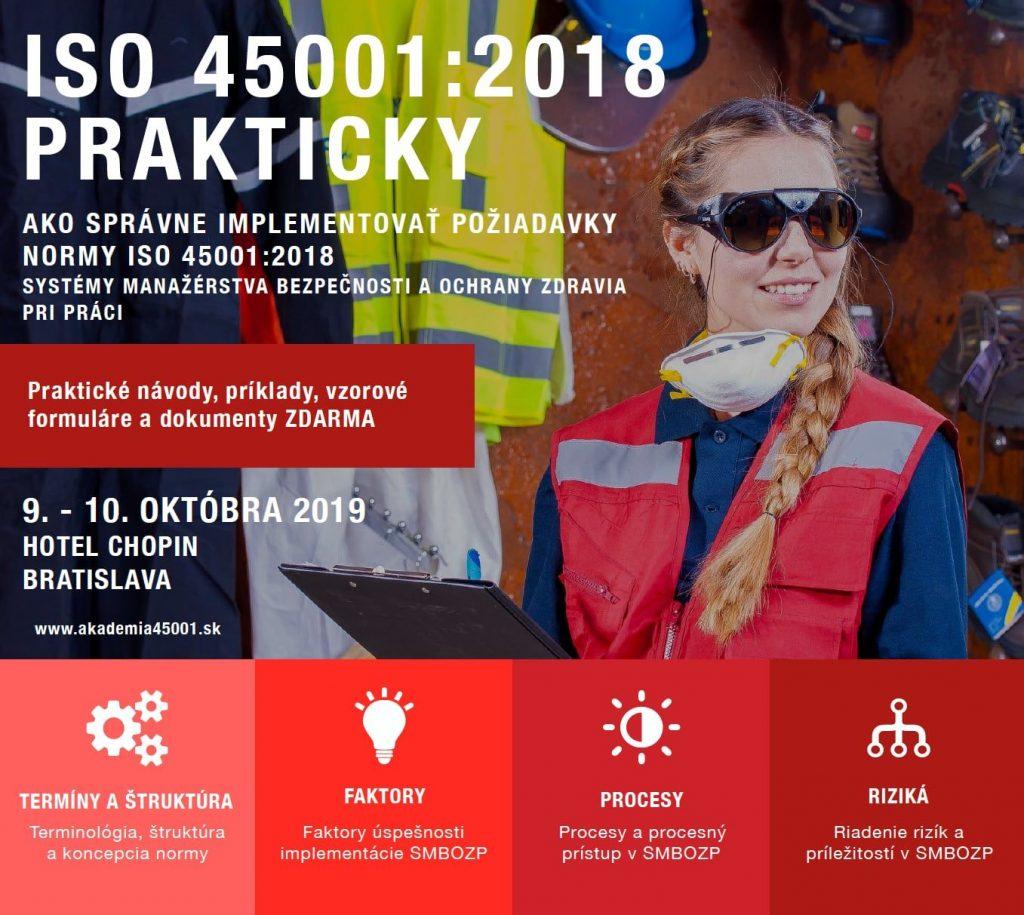 Kurz Norma ISO 45001:2018 prakticky 9.-10.10.2019